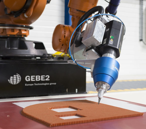 Découpe-robot-composite-ultrasons - GEBE2 - EUROPE TECHNOLOGIES